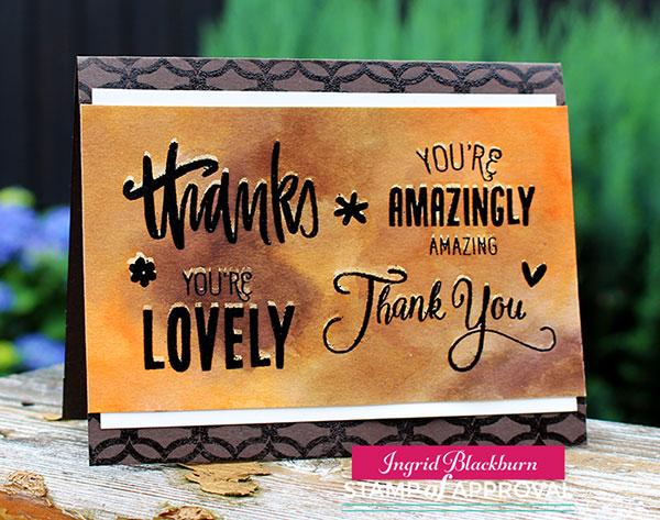 Handpainted Thanks - Lovely Notes Collection - Ingrid Blackburn