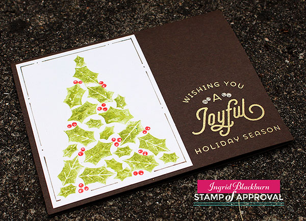 Watercolor Stamping the perfect Christmas tree