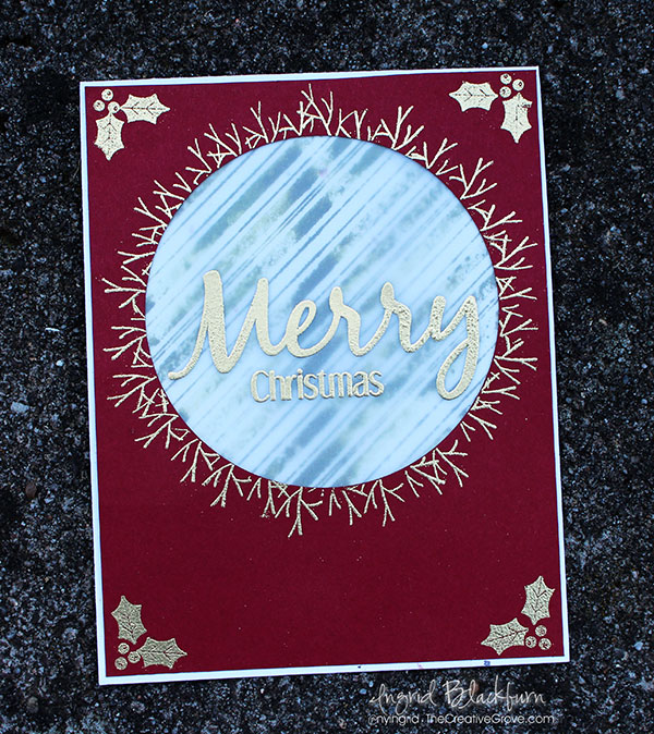 Embossing on Vellum - DIY Christmas Cards