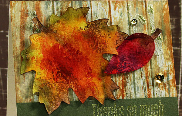nature-mixed-media-fall leaves technique