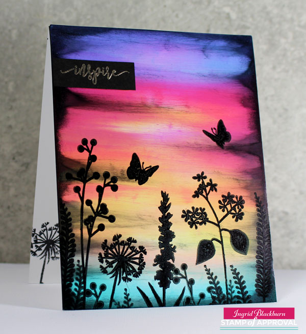 Ink Swipe Technique on Scenic Cards