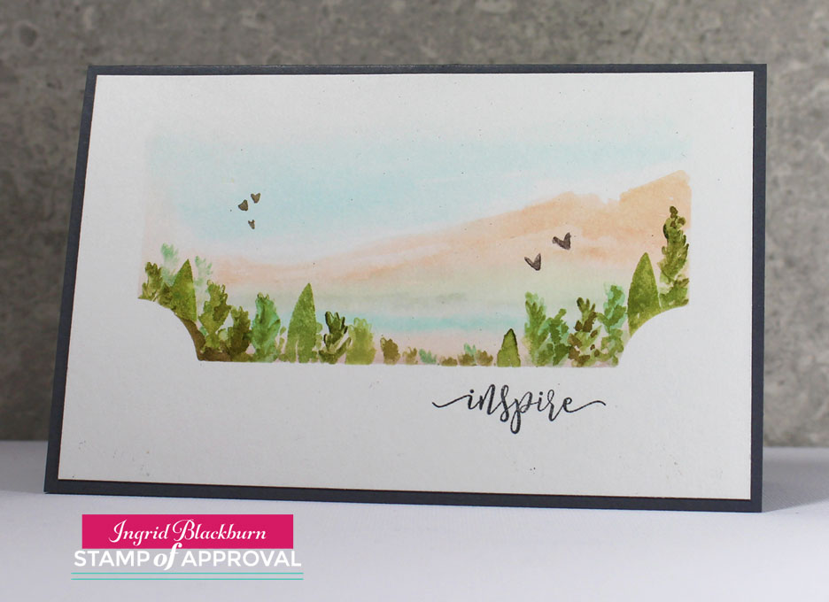 Watercolor Landscape Cards using the Naturally Inspired Collection