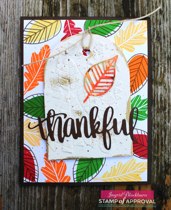 Counting Blessings Stamp of Approval card by Ingrid Blackburn
