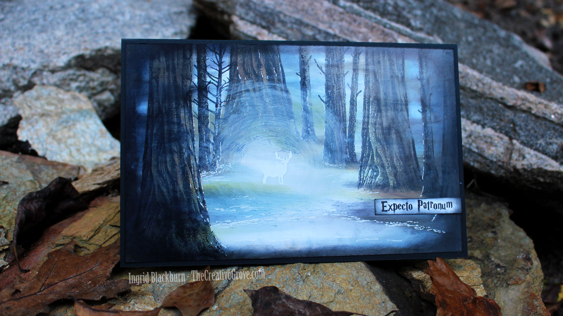 Harry Potter Card - Forest Scene