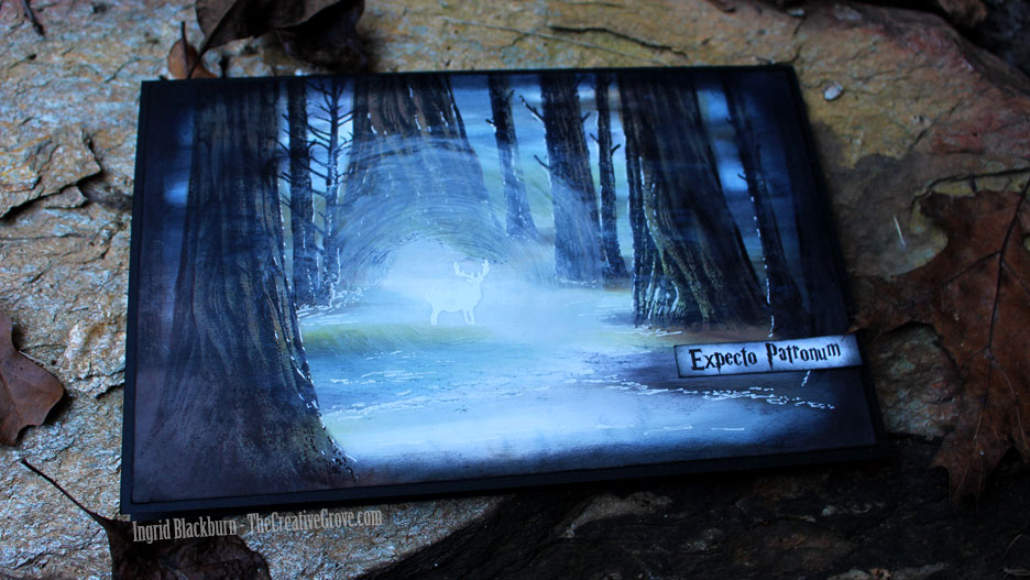 Harry Potter Forest Card - Stampscapes - Ingrid Blackburn