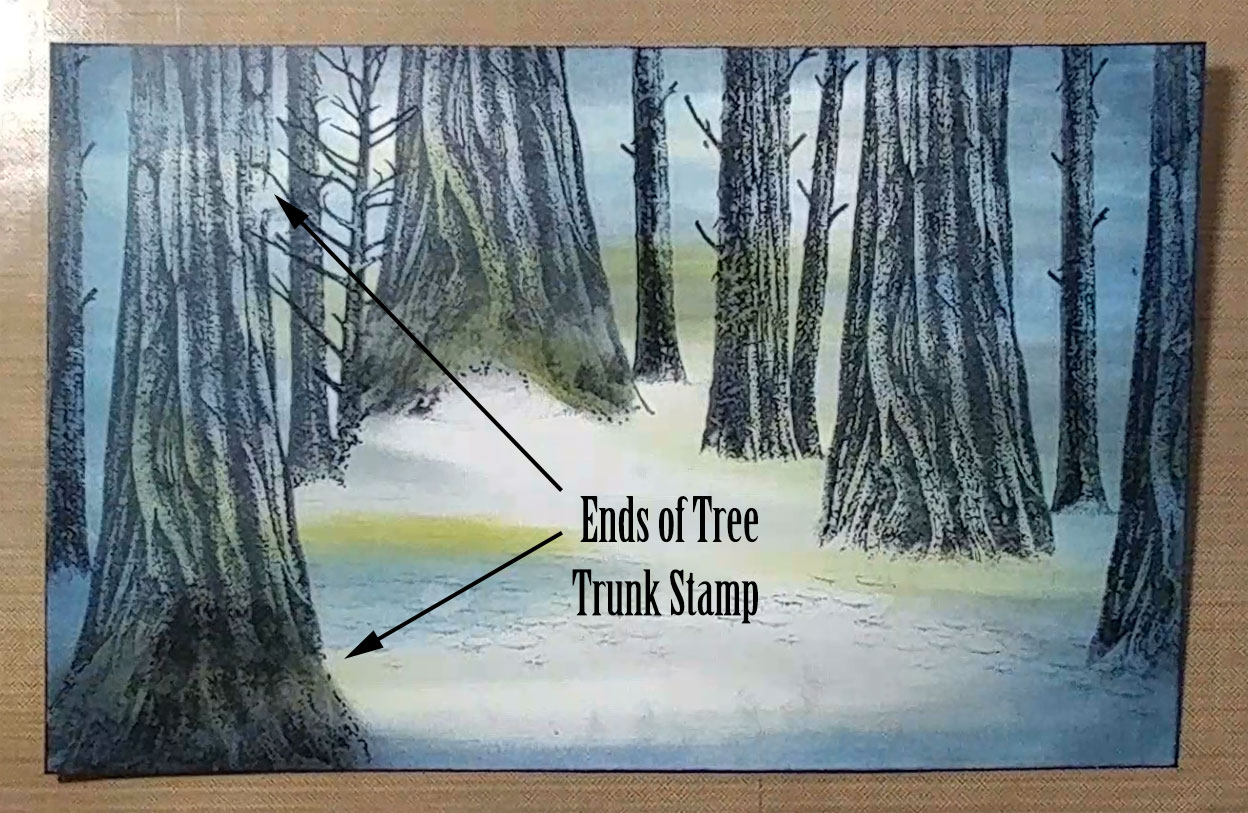 Stampscapes Tree Trunk Stamp