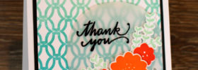 Ombre Lattice Thanks Card