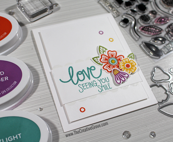 Spa Inks Love Grows Stamp Set