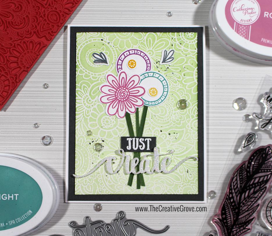Zen Feather and Doodle Background - Zen Garden Release