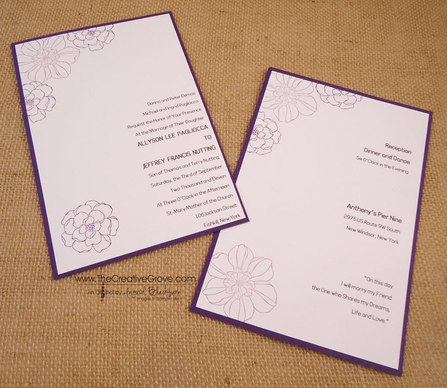 Secret Garden 004 Wedding Invite