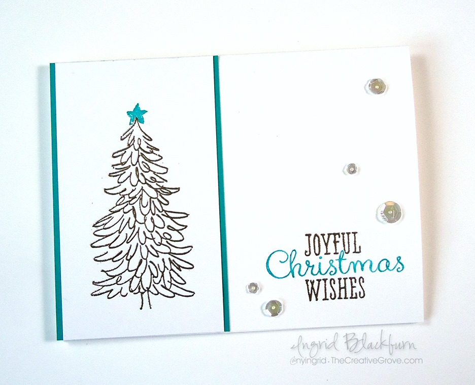 non traditional evergreen christmas cards - Non Photo Christmas Cards