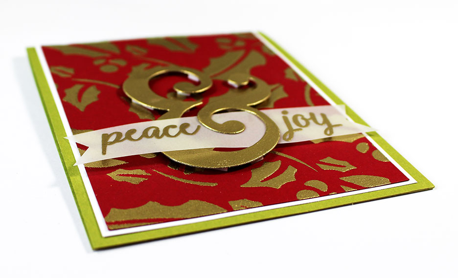 Gold Embossed Christmas Cards