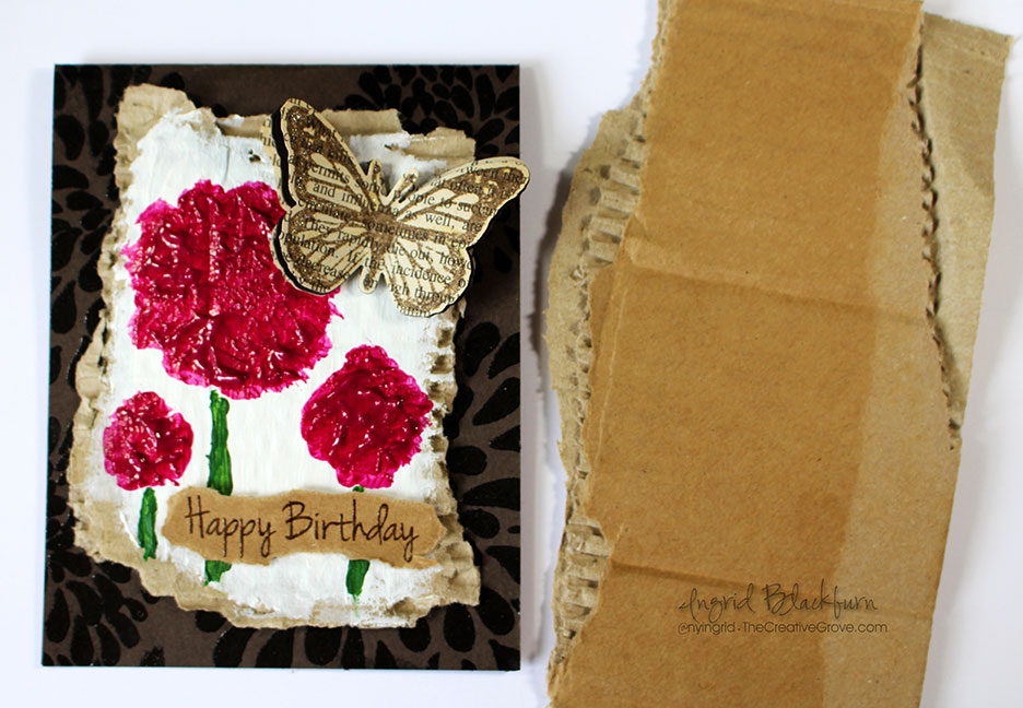 How To Use Recycled Materials On Cards